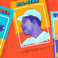 illustration of baseball cards
