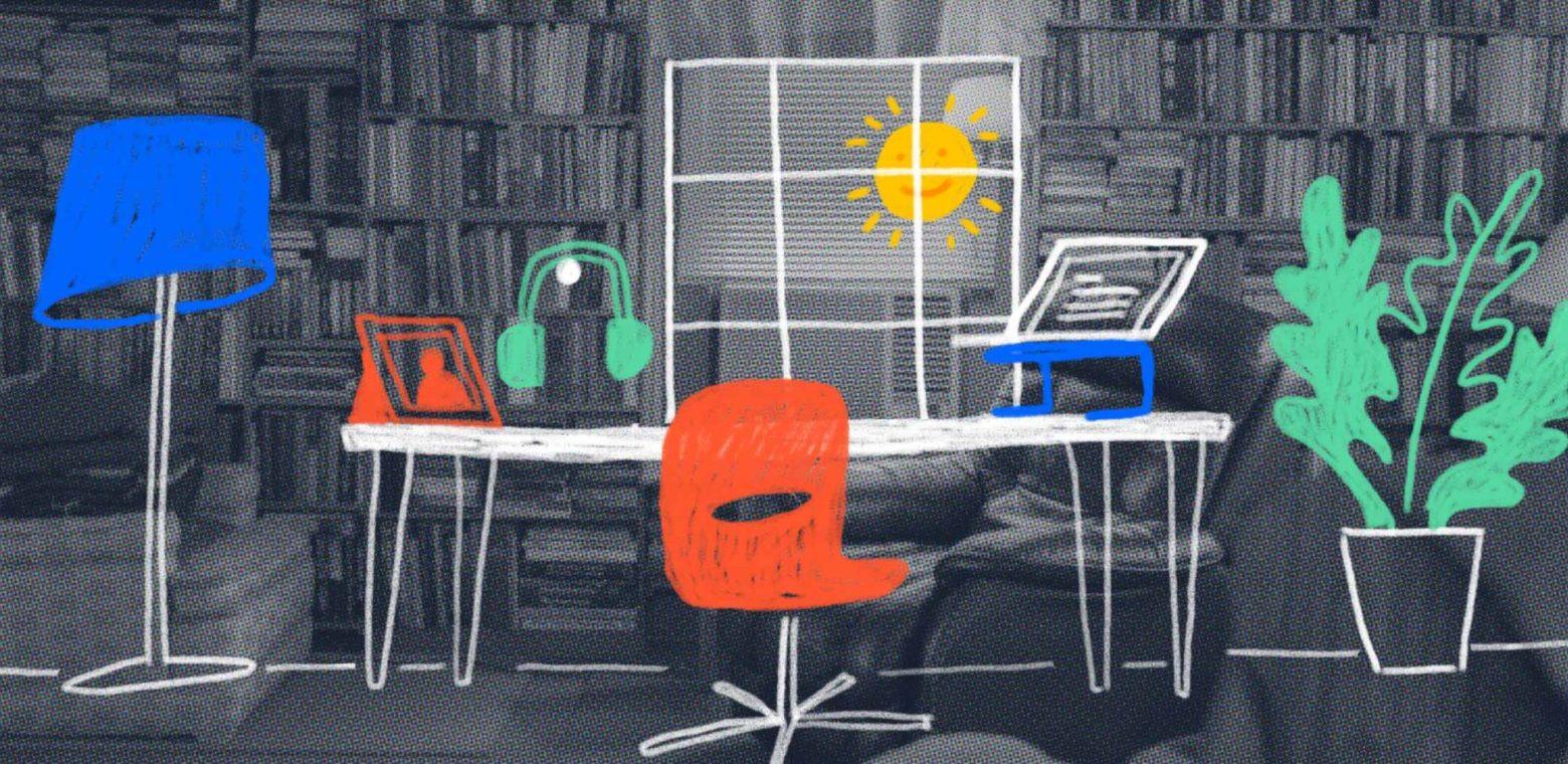 home office setup image