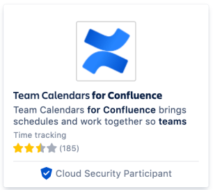 Image of Marketplace app with Cloud Security Participant badge.