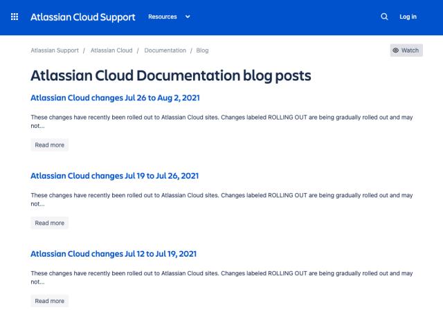 cloud release blog screenshot
