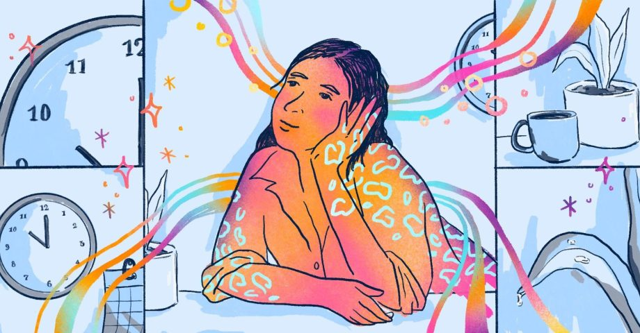 A person daydreaming, illustrating the value of boredom at work