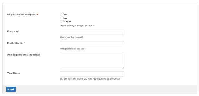 HR form gather feedback