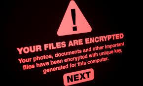 Ransomware message screen