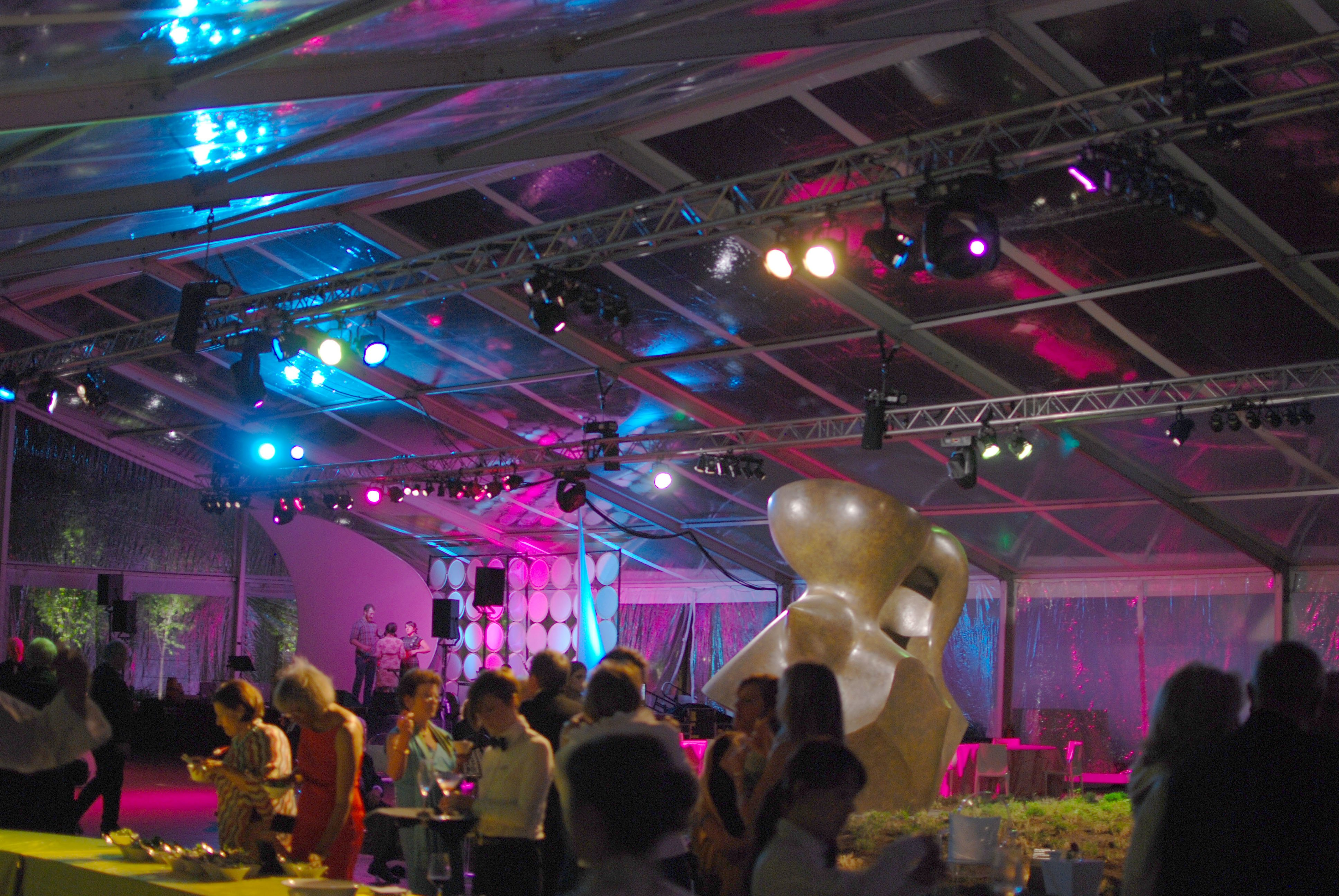 Tent at a Museum Event Lit with Two Truss Spans & Atlas Stageworks Lighting | Lighting Your World of Events azcodes.com