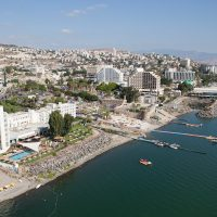 Aerial View of Tiberias at the Shores of Galilee