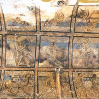 Frescoes Ceiling at Qusayr Amra
