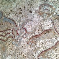 Floor Mosaic at The Burnt Palace in Madaba