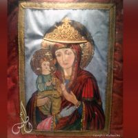 The Tricheroussa (Three-Handed Virgin) Icon in St. George Church of Madaba