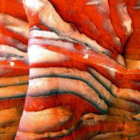 Colored Rocks of Petra Mountains