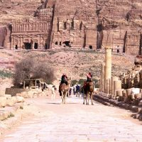 The Ruins of The Colonnaded Street in Petra