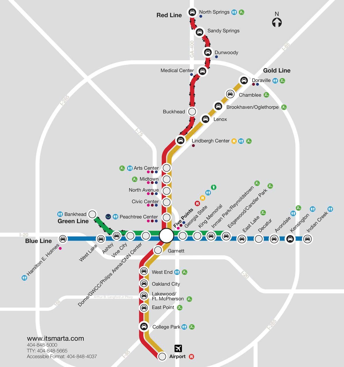 MARTA-Rail-System-Map - Atlanta Championship Game