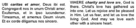 Ubi-Caritas-LyricsS