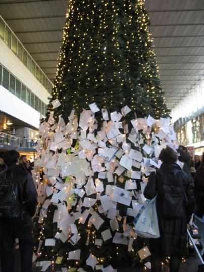 Der Weihnachtsbaum am Termini ...