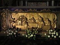 Das letzte Abendmahl mit Jesus und Maria Magdalena Arm in Arm