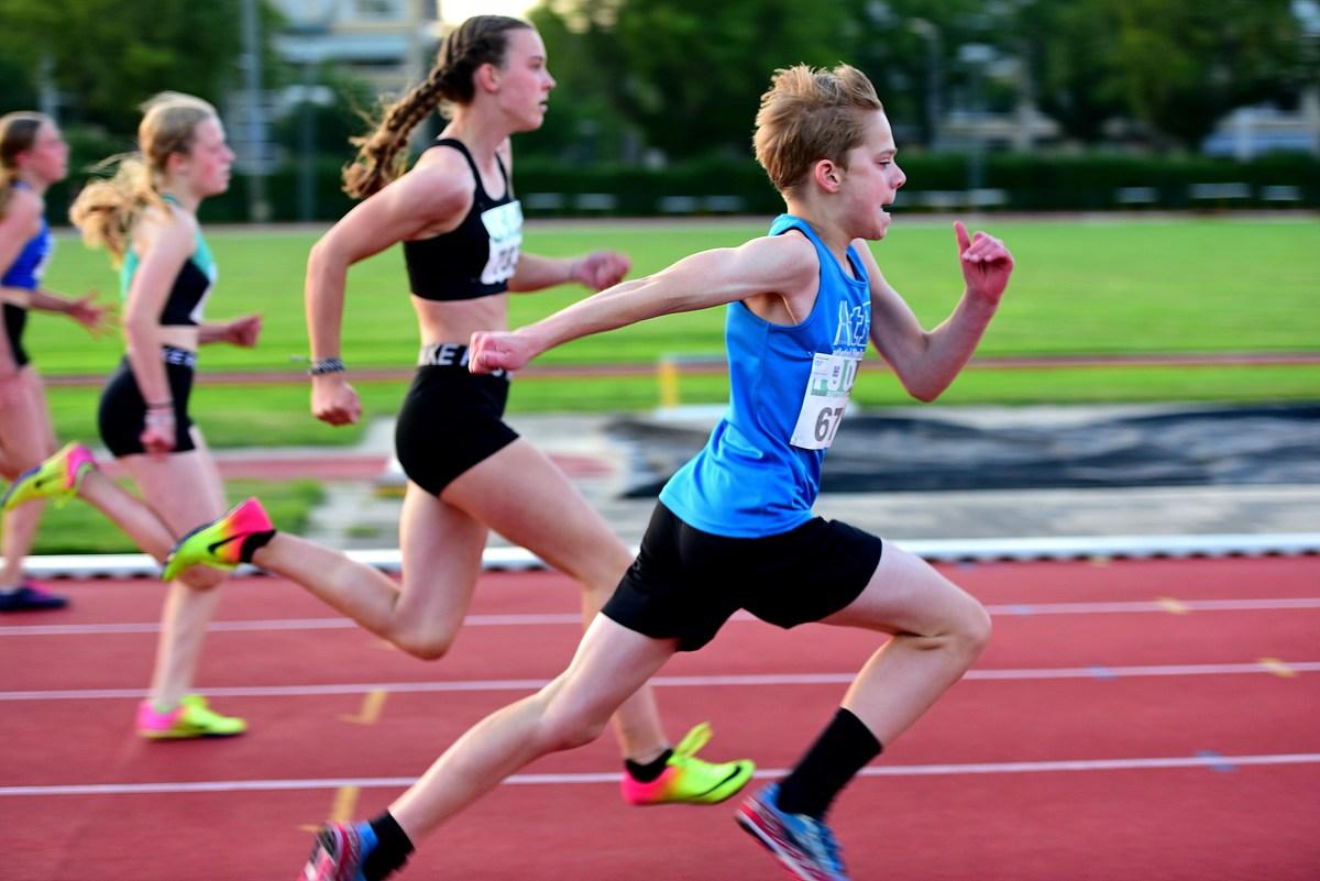 Jorg sprint 80m in 10.79