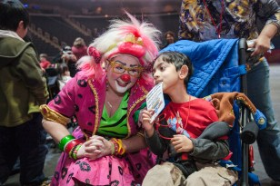 clown with little boy