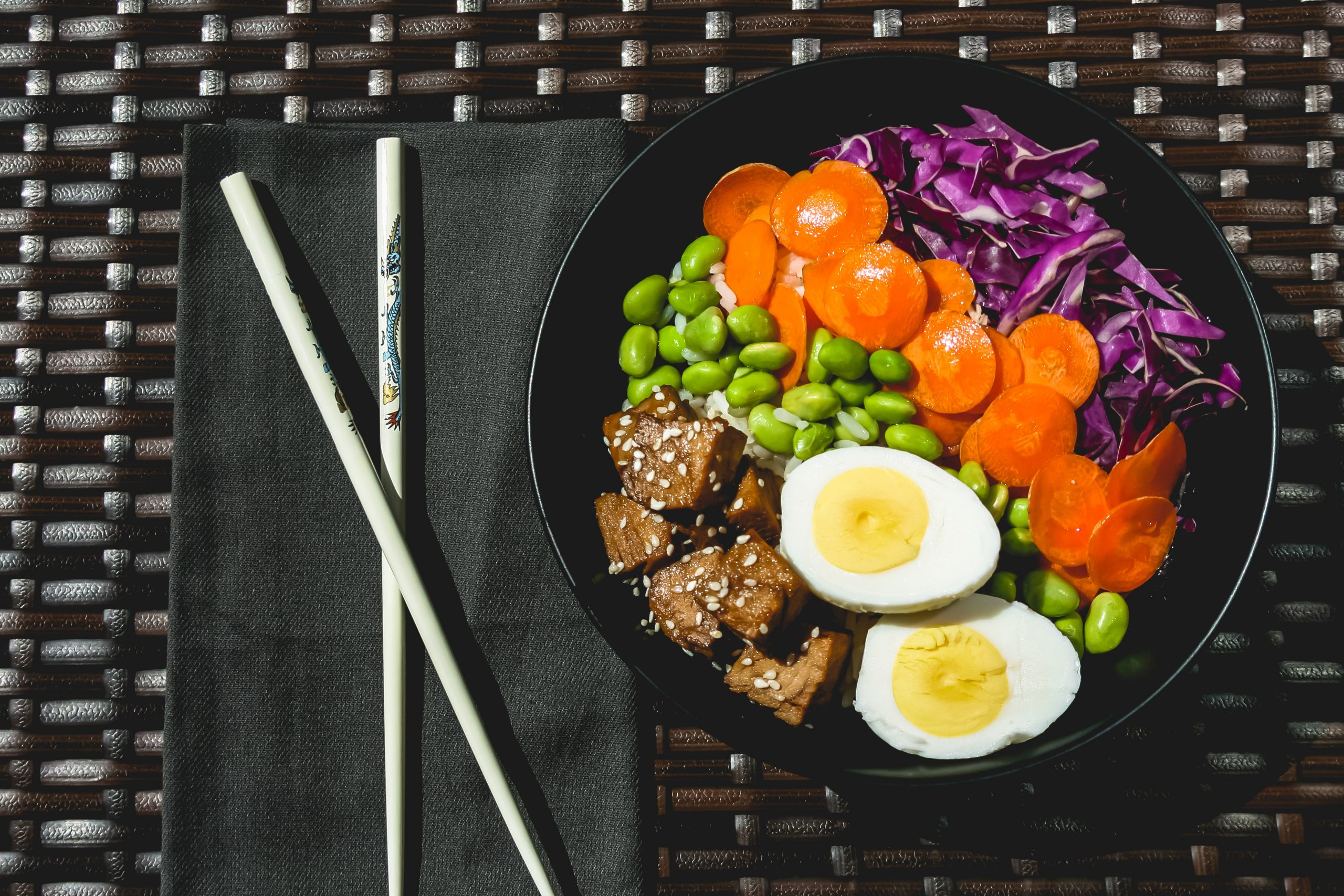Food photography of a healthy Buddha bowl