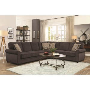 Kendrick Sectional with Memory Foam Sleeper (Brown)