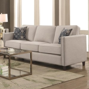 Coltrane by Coaster Transitional Sofa with Nail Head Trim