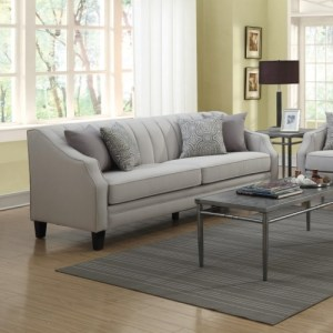 Loxley Sofa with Channeled Back and Track Arms