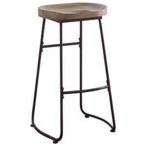 Dining Chairs and Bar Stools Rustic Bar Stool with Saddle Seat