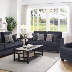Stewart Casual Grey Loveseat