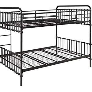 Hanklin Dark Bronze Full-Over-Full Bunk Bed