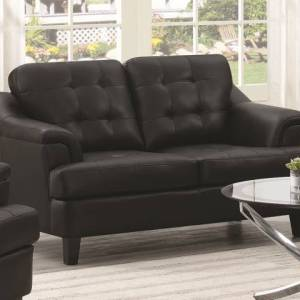 Freeport Upholstered Tufted Loveseat Black
