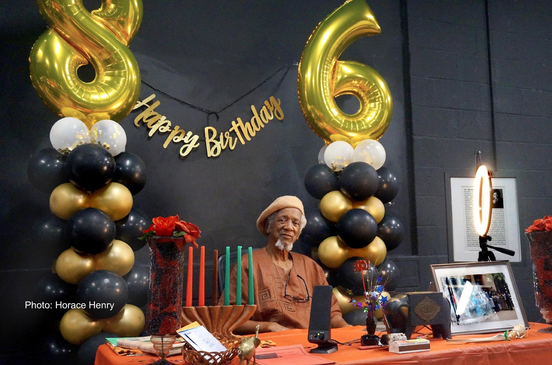 Atlanta Professional Photographer Jim Alexander at his 86th Birthday Celebration. Photo By Horace Henry