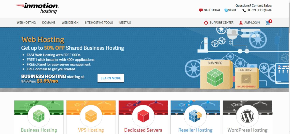 افضل استضافة مواقع inmotionhosting