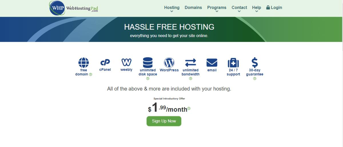 استضافة مواقع webhostingpad
