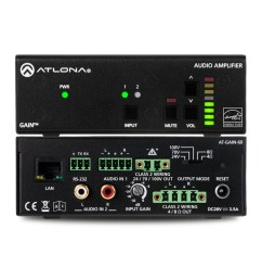 stereo mono power amplifier 60 watts [ 1600 x 742 Pixel ]