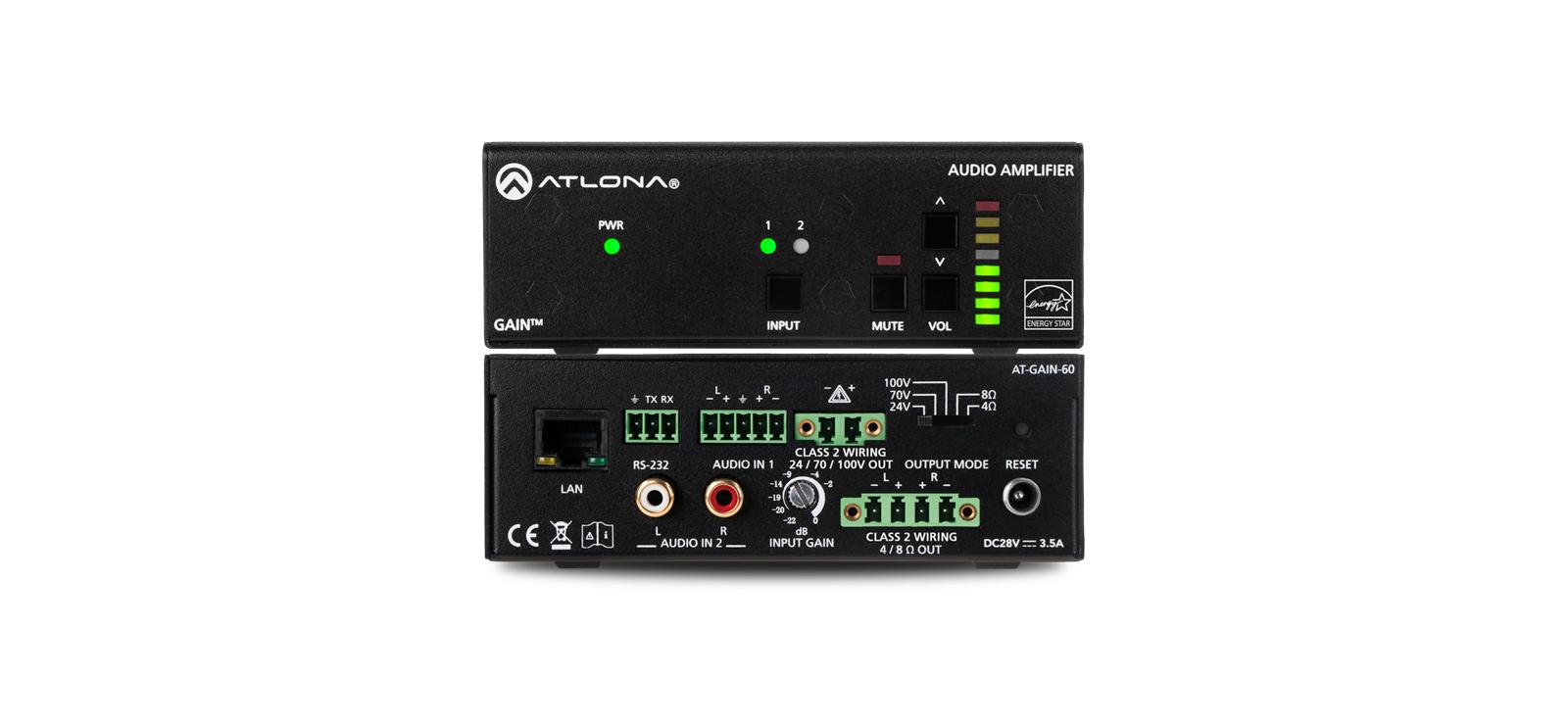 hight resolution of stereo mono power amplifier 60 watts