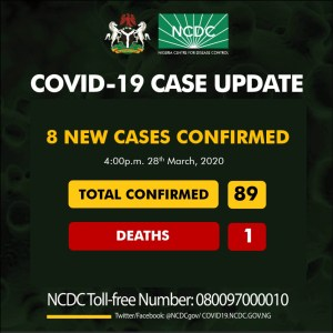 BREAKING: Nigeria records eight new COVID-19 cases, totaling 89