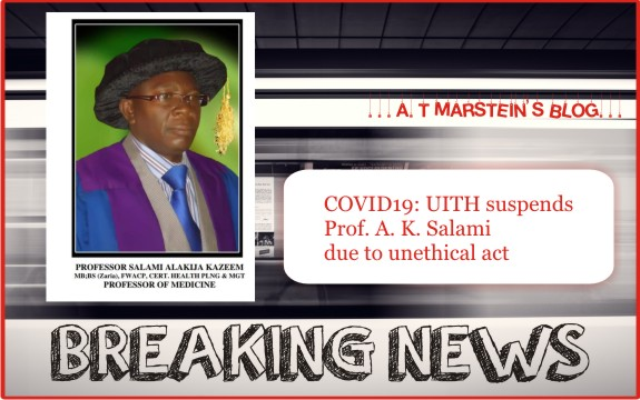 COVID19: UITH suspends Prof. A. K. Salami due to unethical act