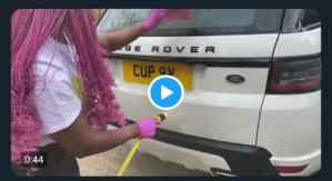 "OH MY GOD! See what quarantine has been caused ""DJ cuppy became the washer of her cars"""