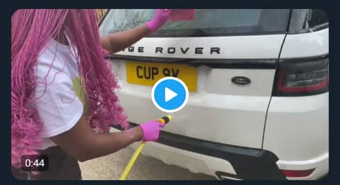 """OH MY GOD! See what quarantine has been caused """"DJ cuppy became the washer of her cars"""""""