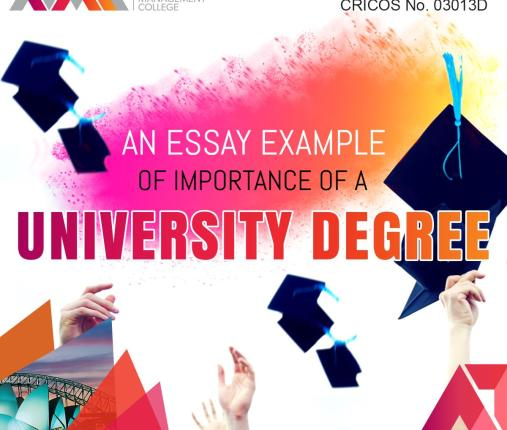 An Essay Example of Importance of a university degree