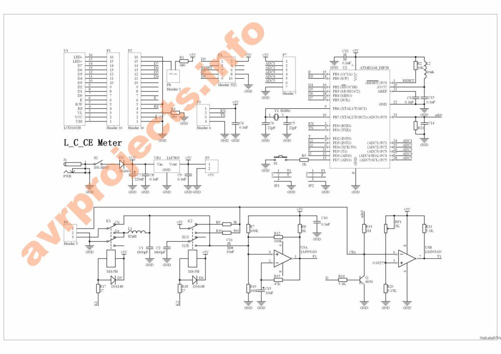 medium resolution of circuit diagram atmega8 lc meter