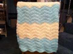 chevron baby blanket pattern, crochet, afghan
