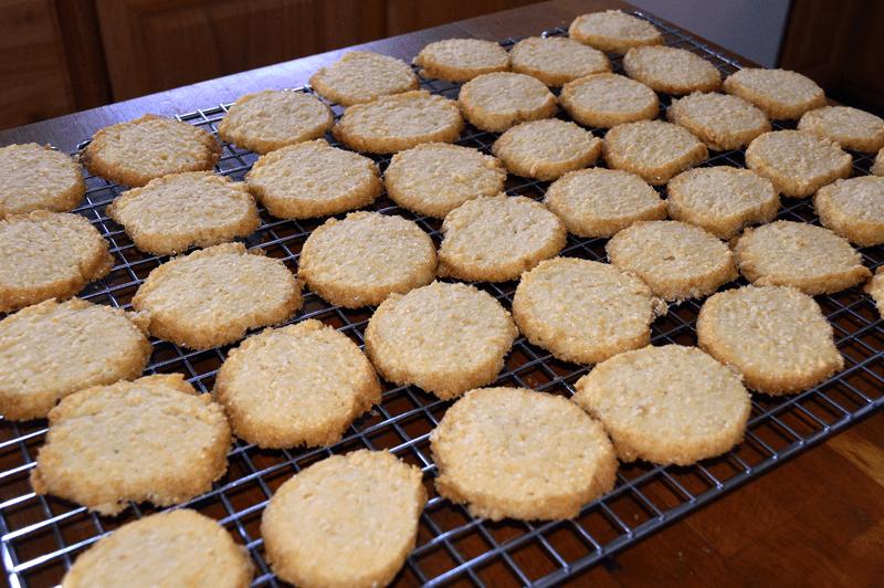 grannie geek orange almond sable cookies cooling rack