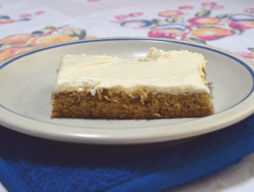 grannie geek, yummy banana sheet cake