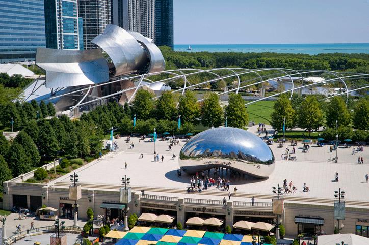 at mimi's table chicago millennium park cloud gate the bean