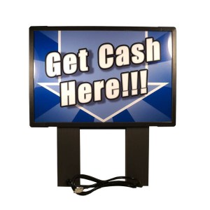 "Genmega Blue Topper - Bright ""Get Cash Here"" Topper for Tranax/Genmega 1700, 1700W, G1900, G2500"