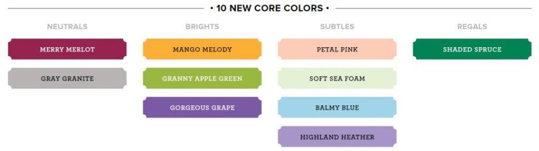 new core colors