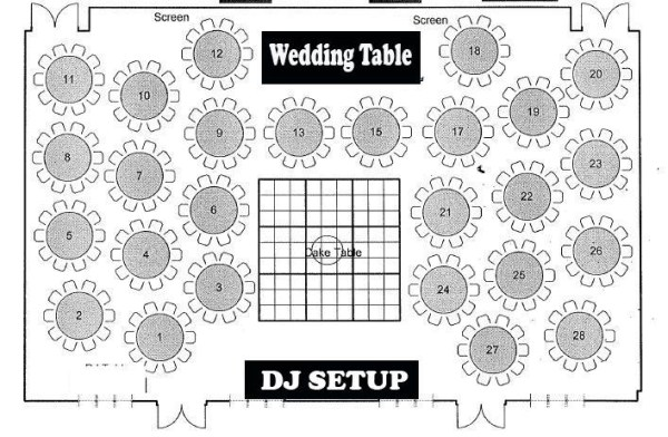 Atmosphere Productions - wedding reception sound - floorplan
