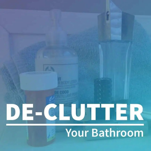 De Cluttering The Bathroom