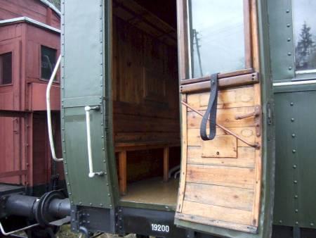 Wooden door interior wagon train old