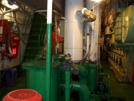 Engine room ship