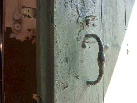 old wooden door trigger